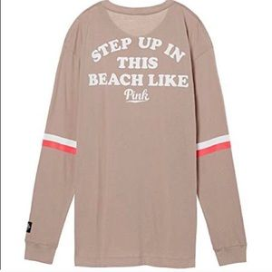 VS Pink Step Up in This Beach Like Thermal Top